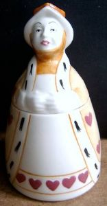 Carlton Ware Queen of Hearts Preserve Pot - 1980s